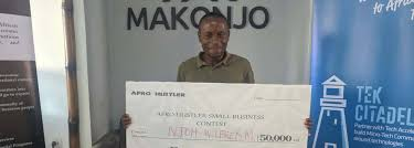 Njoh Wilfred Wins FCFA 50,000 at the Afro Hustler Micro Business Pitching  Contest