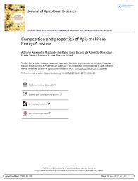 properties of apis mellifera honey