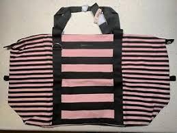 victoria secret pink and black striped