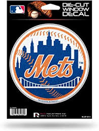 Amazon Com Rico Industries New York Mets Glitter Die Cut Vinyl Decal Automotive