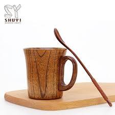 china customized wooden coffee mug