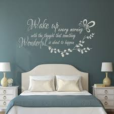 Wake Up Every Morning Inspirational Bedroom Quote Wall Decal Etsy