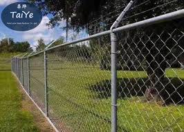 Pvc Galvanized Chain Link Fence Barbed Wire Arms For Industry Security