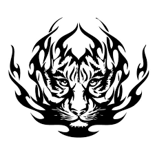 Animal Car Decals Car Stickers Tiger Car Decal 02 Anydecals Com