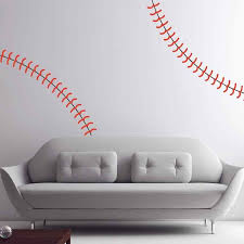 Large Life Size Baseball Seams Stitching Stitch Vinyl Wall Stickers Home Decor Art Decal For Sports Fans Locker Rooms Kids Rooms Stickers Home Decor Vinyl Wall Stickerswall Sticker Aliexpress