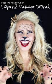 kitty cat or leopard makeup tutorial