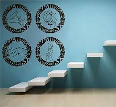 Amazon Com Spa Wall Decal Spa Salon Wall Sticker Relax Wall Vinyl Massage Decal Body Sticker Spa Salon Decor Ae1219 Handmade