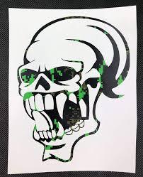 Amazon Com Vampire Skull Black And Green Digital Print Vinyl Decal Handmade