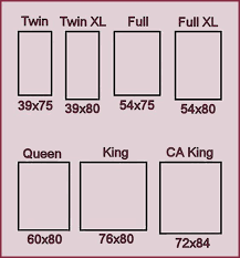 mattress size chart good place to