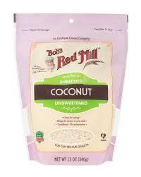 unsweetened shredded coconut