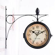 Dual Face Paddington Wall Clock Black Outdoor Garden Decor Wall Clock Dia 25cm Walmart Canada