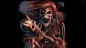 scary skeleton wallpapers on wallpaperplay