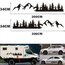 2pcs Car Body Forest Mountain Graphic Stickers Decal For Camper Rv Trailer Truck Ebay
