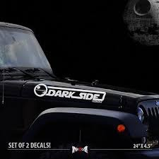 2x Dark Side Edition Jeep Wrangler Cj Tj Yk Jk Star Wars Car Vinyl Sticker Decal Jeep Decals Darth Vader Jeep Jeep Star