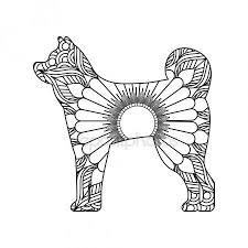 Tekening Zentangle Voor Hond Volwassen Kleurplaat Handen Tekenen