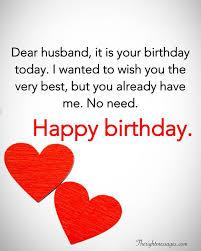 birthday wishes to husband status