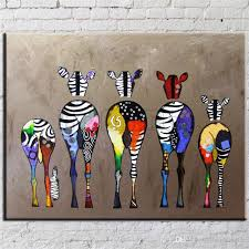 Hand Painted Abstract Andy Warhol Pop Art Painting Zebra Wall Independence