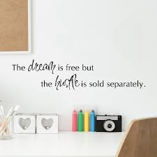 Belvedere Designs Llc Hustle Sold Seperately Office Quotes Wall Decal Wayfair
