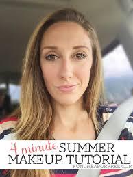 4 minute summer makeup tutorial video