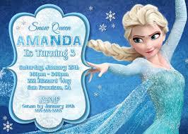 Girls Frozen Birthday Invitation Frozen By Pixelperfectshoppe
