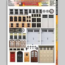 Mg3838 Photo Real Door Window Decals Action Toys