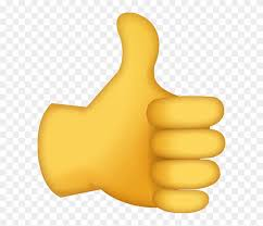 Thumbs Up Emoji Large Clipart (#58522) - PikPng