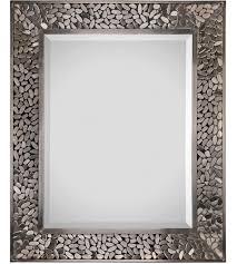 lexi 36 x 30 inch satin nickel wall mirror