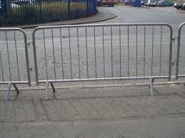 Steel Barriers Our Very Own Steel Crowd Control Barriers For Hire Each Barrier Is 2 3m In Length Standing 1 1m Crowd Control Barriers Crowd Control Barrier