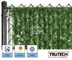 Chain Link Hedge Slats 10 Year Warranty