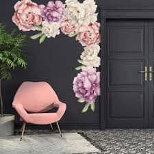 Flower Wall Decals For Bedroom 3d Uk Pink And Purple Design Butterfly Ebay Tree Grass Vamosrayos