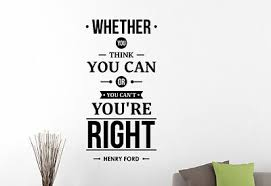 Henry Ford Inspirational Quote Wall Decal Business Vinyl Sticker Art Decor 1hf Ebay
