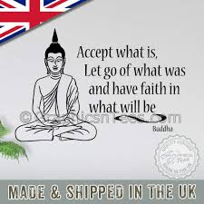 Buddha Inspirational Quote Accept What Is Wall Art Mural Sticker Decals Quote
