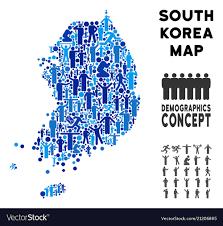 south korea map Royalty Free Vector Image