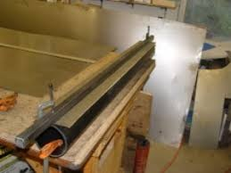 homemade sheet metal curve bending tool