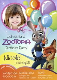 Zootopia Birthday Invitation Customize It With Your Daughter