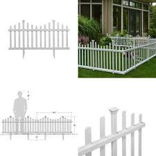 6 Foot Solar Border Picket Fence Panel For Garden Yard Flowerbed 4 Colors Avail 24 98 Picclick