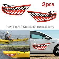 1 Pair Waterproof Shark Teeth Pvc Vinyl Kayak Rowing Boat Stickers Decals Buy At A Low Prices On Joom E Commerce Platform