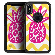 Pink And Yellow Pineapple Skin Decal Kit For The Iphone 7 Plus Or Iphone 8 Plus Otterbox Defender Case Wantitall