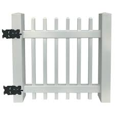 Azembla 3 X 3 6 White Vinyl Picket Gate At Menards