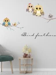 Cartoon Diy Animal Owl Tree Wall Stickers Birds Branch Vinyl For Kids Home Decor Mural Removable Decal Stickers On The Wall Personalized Baby Name Wall Decor Baby Girl Wall Murals From Miss 8913