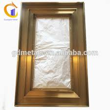 stainless steel framed square glass