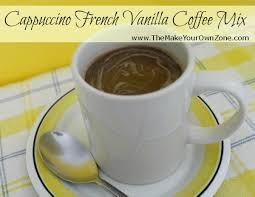 cappuccino french vanilla coffee mix