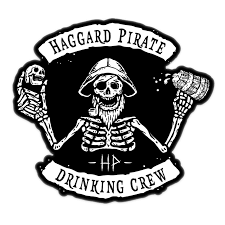 Drinking Crew Sticker Haggard Pirate