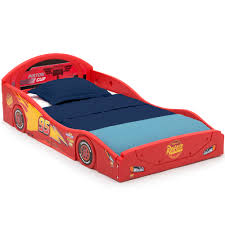 Disney Pixar Cars Lightning Mcqueen Plastic Sleep And Play Toddler Bed By Delta Children Walmart Com Walmart Com
