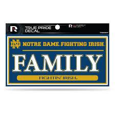 Sparo Notre Dame Fighting Irish Family True Pride Decal