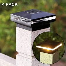 Maggift 15 Lumen Solar Post Lights Outdoor Post Cap Light For Fence Deck Or Patio Solar Powered Caps Warm White High Brightness Smd Led Lighting Lamp Fits 4x4 5x5 Or 6x6 Wooden
