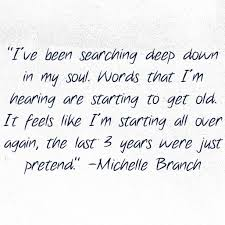 michelle branch goodbye to you probably my favorite michelle