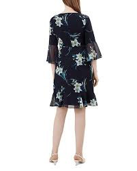Hobbs London Adriana Bell-sleeve Dress In Navy Multi | ModeSens