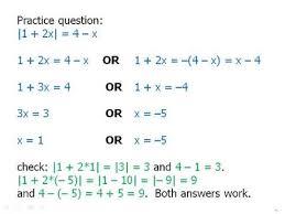 advanced algebra absolute value