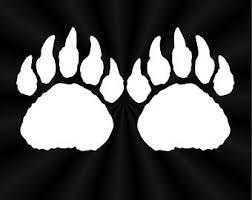 Bear Tracks Decal Etsy
